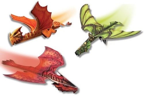 nerdgasm dragons paper airplane - 7159144704