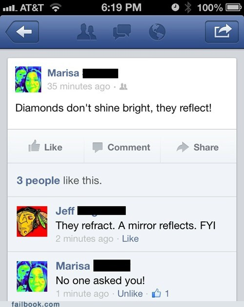 refraction,diamonds,reflection,word choice