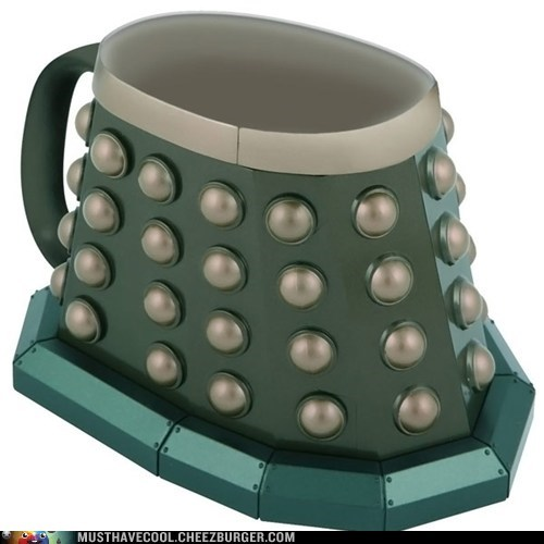 dalek,nerdgasm,doctor who,mug