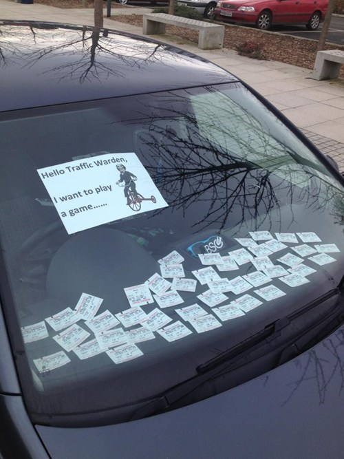 saw parking ticket prank g rated win