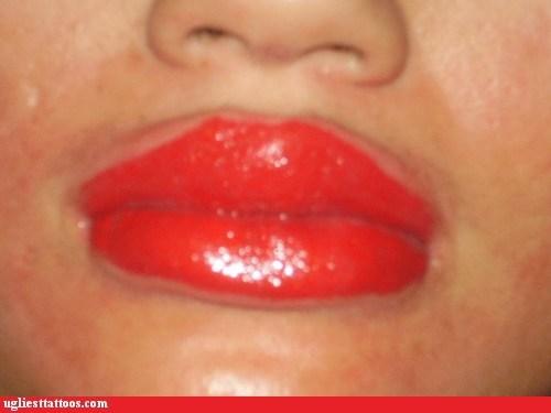 red makeup tattoos lipstick - 7159638016