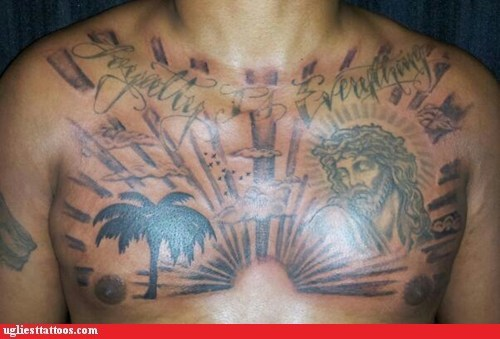 jesus sky chest tattoos - 7159723520