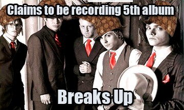 scumbag hat,recording,my chemical romance,breakups