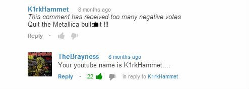 metallica,kirk hammet,youtube comments