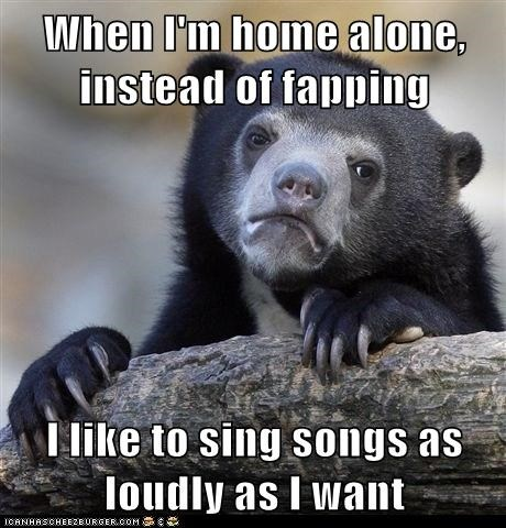 singing,faptimes,Confession Bear