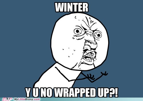 winter wrap up,meme,Y U No Guy