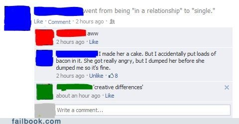 relationships,breaking up,bacon,breakups