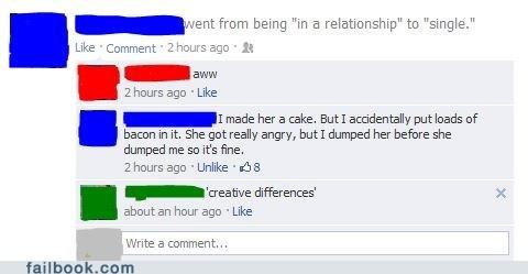 relationships breaking up bacon breakups - 7160693248