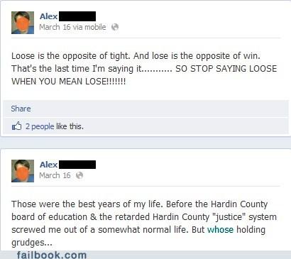 grammar nazis lose vs loose spelling