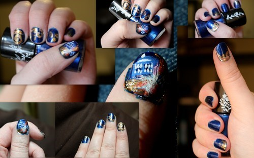scifi,doctor who,nail art