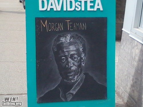 sign puns celeb Morgan Freeman - 7161030912