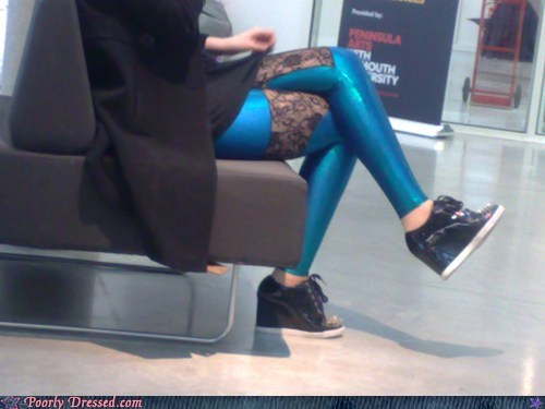 shoes public transportation leggings