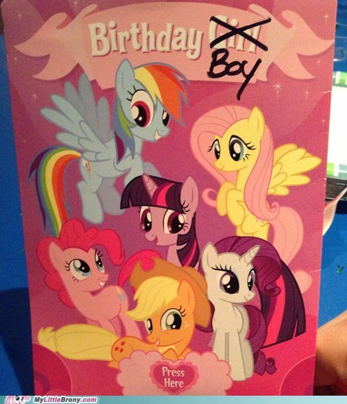 birthday cards my little pony birthday boys - 7163153920