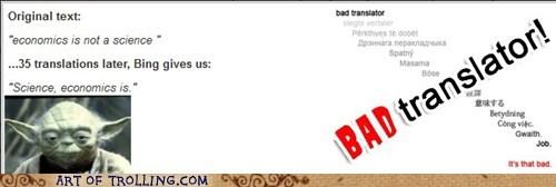 Bad Translator star wars yoda - 7163267584