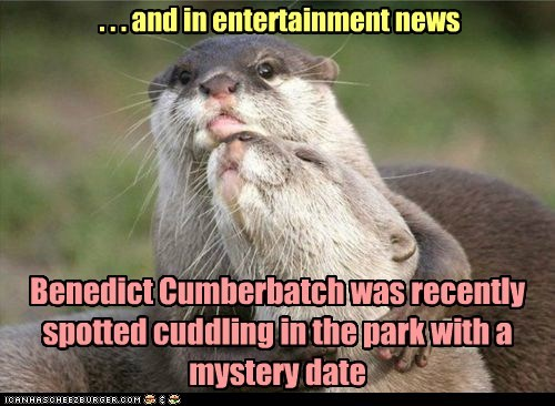 Benedict Cumberbatch was recently spotted cuddling in the park with a mystery date . . . and in entertainment news