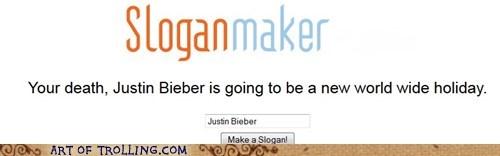 justin bieber sloganmaker