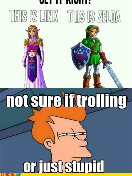 link,trolling,futurama,zelda