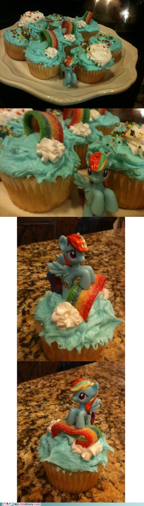 IRL awesome cupcakes food rainbow dash - 7163666176