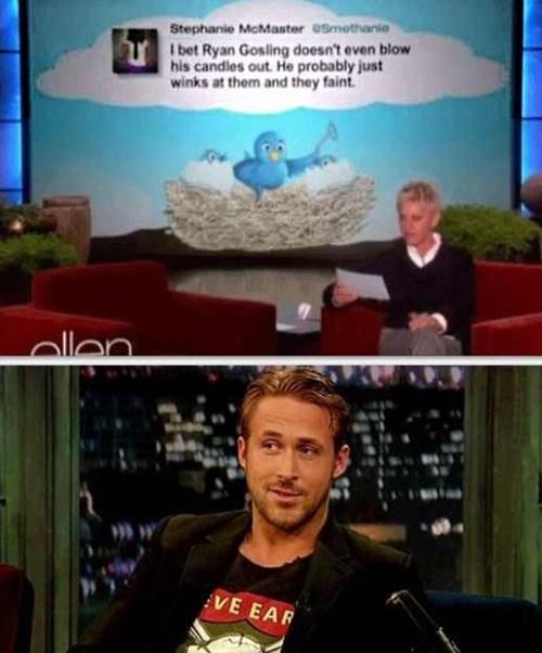 TV Ryan Gosling handsome ellen degeneres