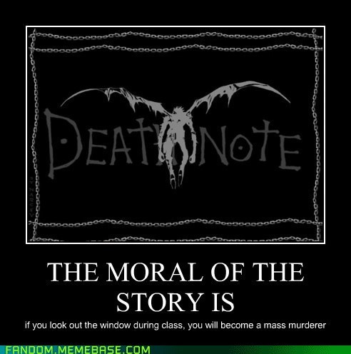 morals,anime,death note