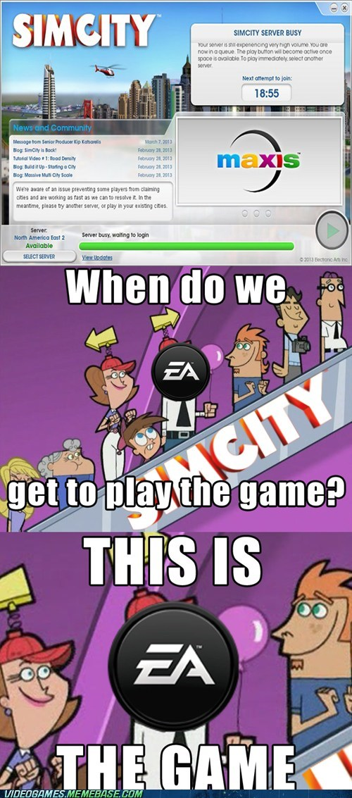 SimCity EA Fairly Oddparents video games