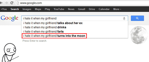 tragedy,the moon,google,dating fails,g rated