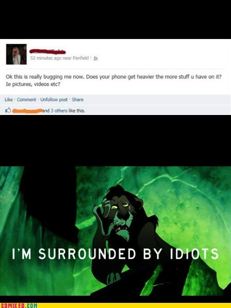 phones,scar,lion king,idiots