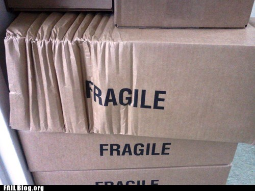 box fragile irony