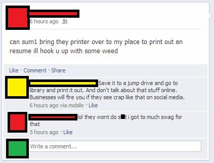 swag Scumbag Steve printer failbook