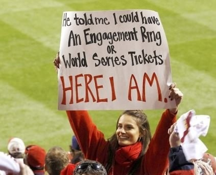 wise choice World Series baseball proposing dating fails g rated