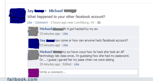 ex girlfriend,hacked,profile hacking,dating