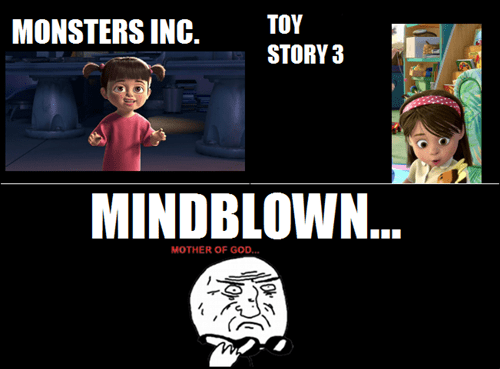mother of god,mind blown,monsters inc,pixar,mike wazowski,toy story 3
