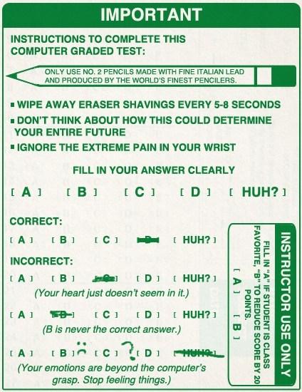 scantron huh test - 7165927168