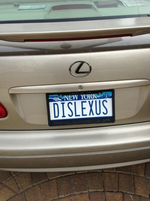 cars,vanity plate,lexus