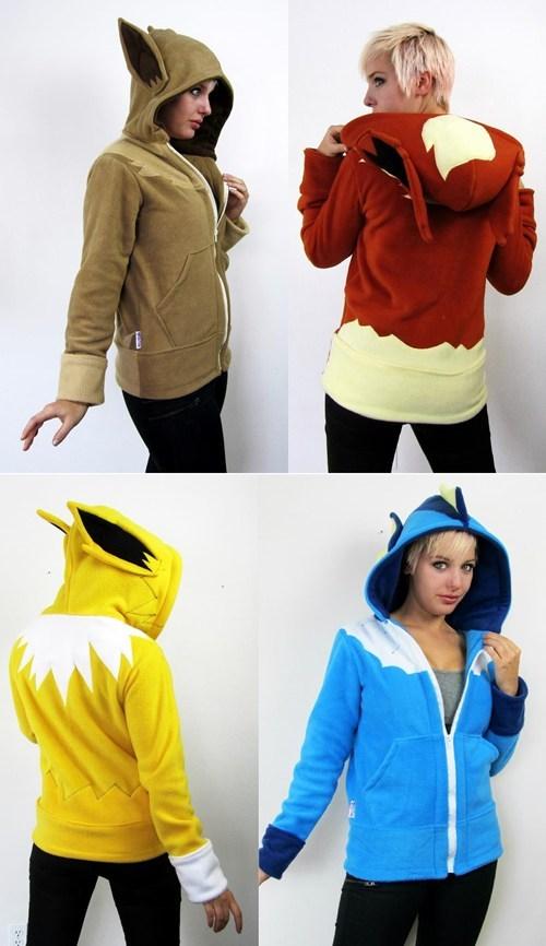 Pokémon,eeveelutions,IRL,eevee,hoodies