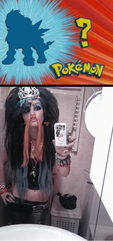 yolo whos-that-pokemon selfie emo