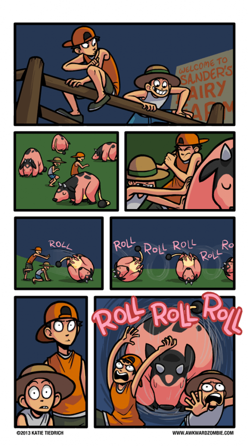 miltank,comics,cow tipping,rollout