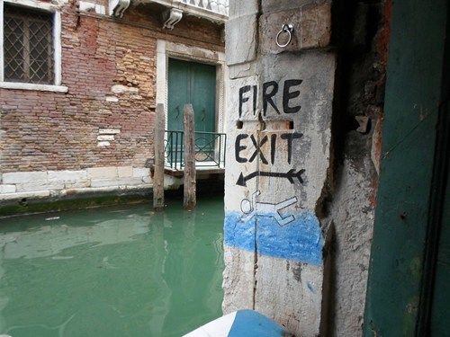 river,fire extinguisher,fire exit