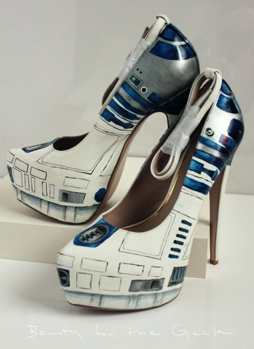 r2d2 star wars high heels poorly dressed g rated