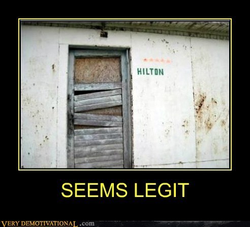 hotel hilton seems legit - 7166166272
