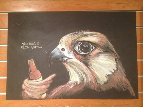 beer birds chalkboards amazing falcon - 7166166528