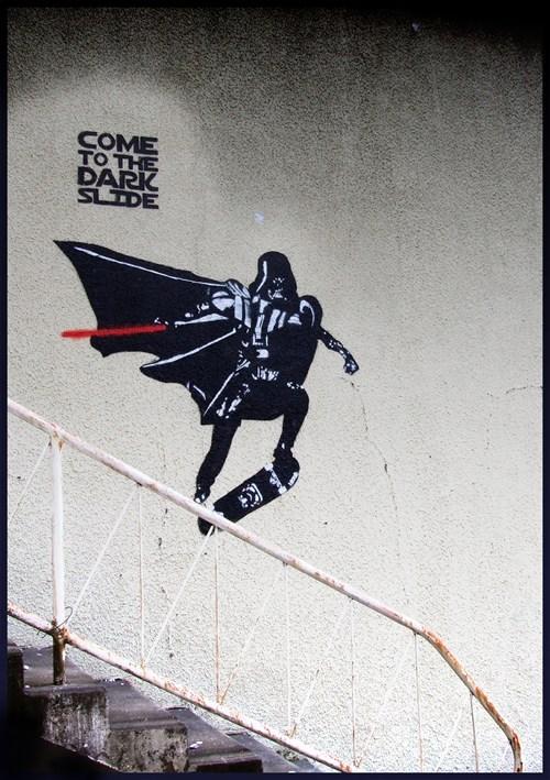 Street Art star wars nerdgasm hacked irl darth vader - 7166219520