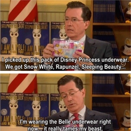 disney stephen colbert disney princesses underwear - 7166221312