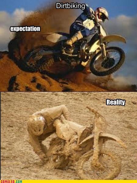 dirt biking expectations vs reality - 7166235648