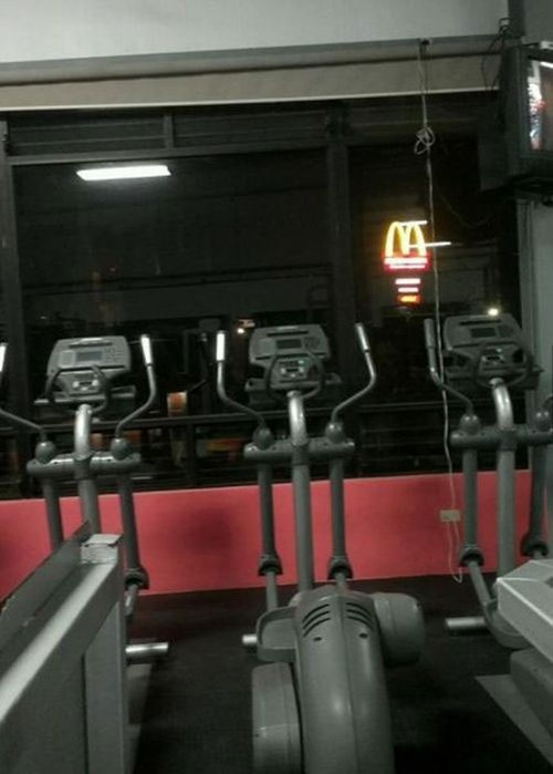 motivation gym fast food