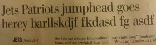 typo headline newspaper keyboard