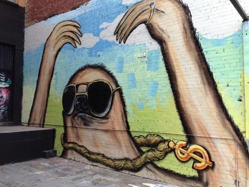 Street Art graffiti hacked irl sloth - 7166699264