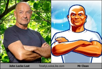 john locke,totally looks like,mr clean