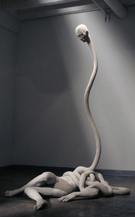 wtf long neck art statue - 7166746624