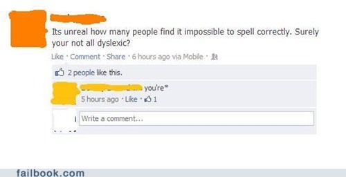 dyslexia,grammar,your vs youre,spelling